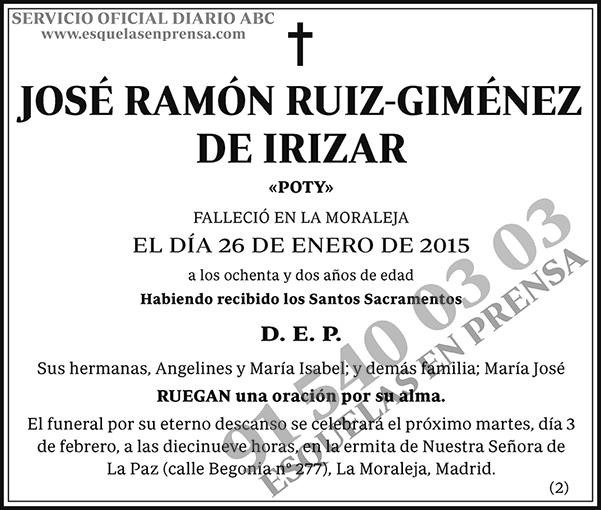 José Ramón Ruiz-Giménez de Irizar